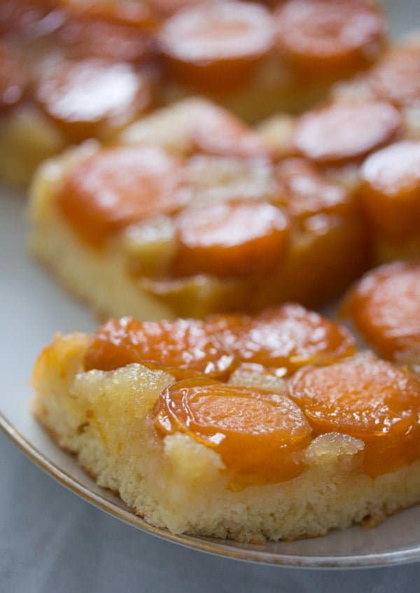 apricot cake, Easy Apricot Cake (Upside-Down)