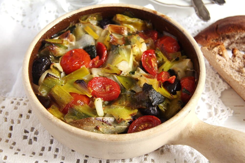 Leek Stew with Olives