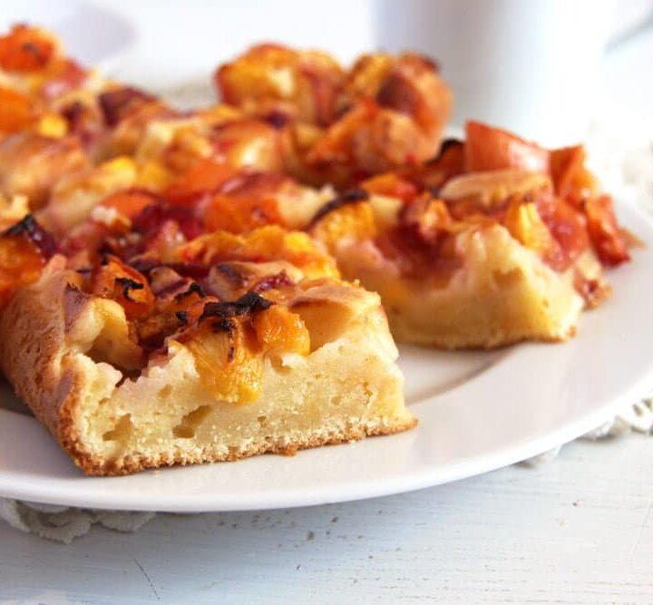 nectarine or peach cake