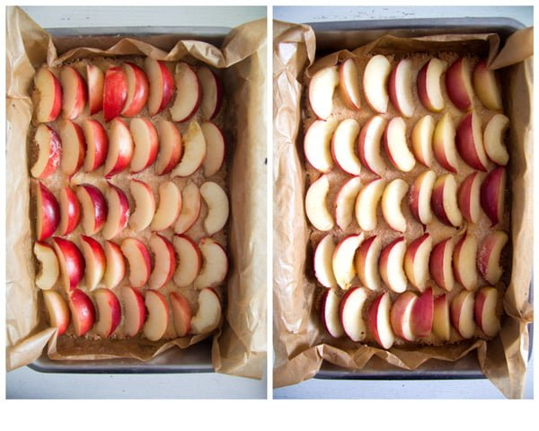 peach or nectarine cake step by step