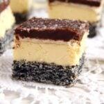 poppy vanilla 150x150 Vanilla Poppy Seed Cake with Chocolate Glaze – Romanian Tosca Cake