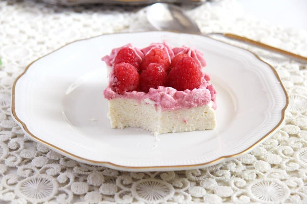 ricotta cake quark No Bake Ricotta Sour Cream Cheesecake with Raspberries