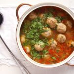 soup turkey vegetables 150x150 Turkey Meatball and Vegetable Soup