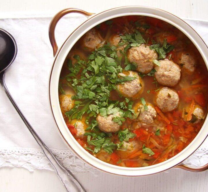 turkey meatball soup vegetables
