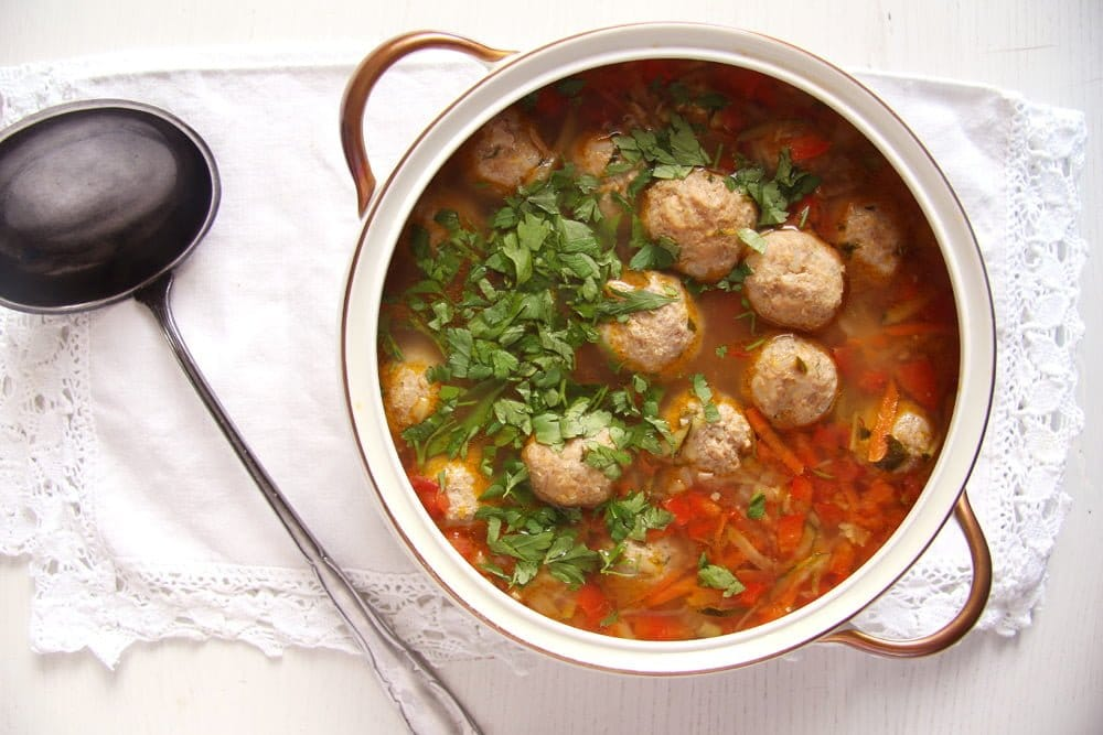 turkey meatball soup vegetables