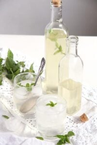mint syrup 200x300 Simple and Delicious Fresh Mint Syrup with Lemons