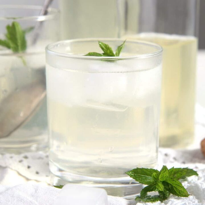 mint syrup glass 720x720 How To Make Mint Syrup