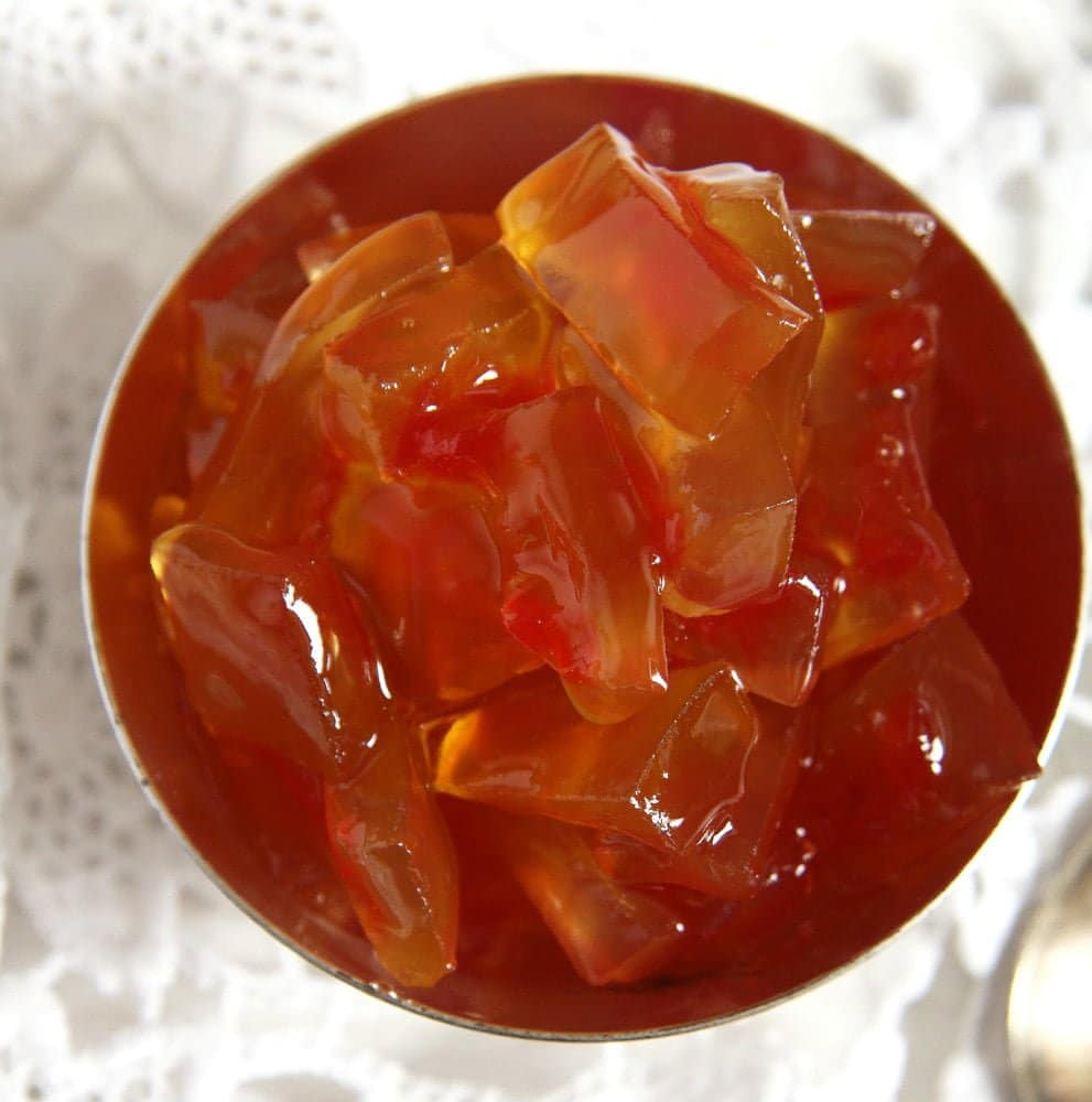 watermelon rind candied Watermelon Rind Jam or Candied Watermelon Rind in Syrup
