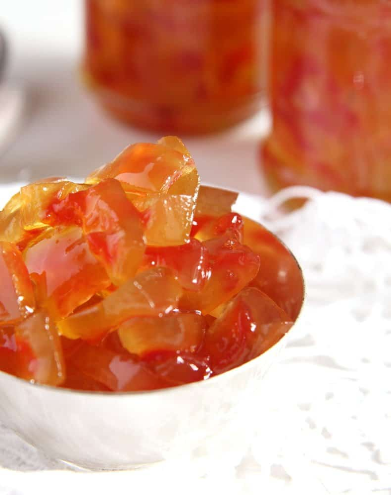 watermelon rind Watermelon Rind Jam or Candied Watermelon Rind in Syrup