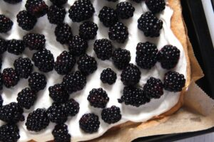 blackberry cake skinny 300x200 Easy Fresh Blackberry Cake with Whipping Cream