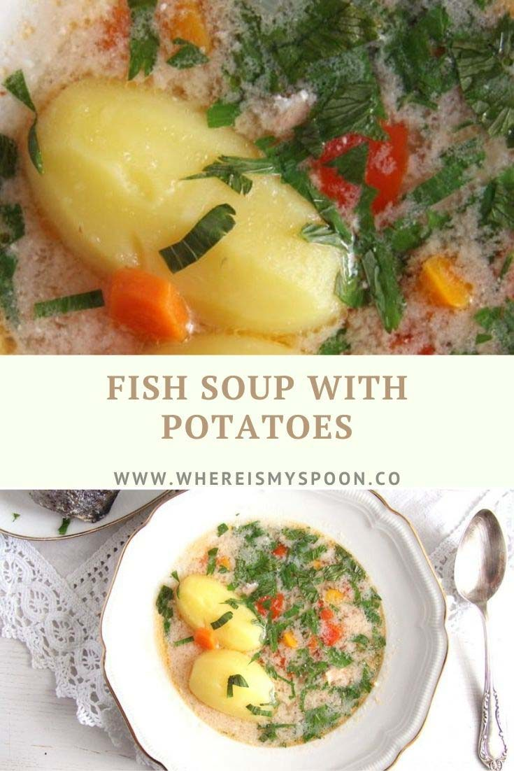 , Fish Soup with Potatoes and Garlic Sauce