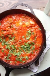 fish tomato 200x300 Easy Skillet White Fish Fillet in Tomato Sauce