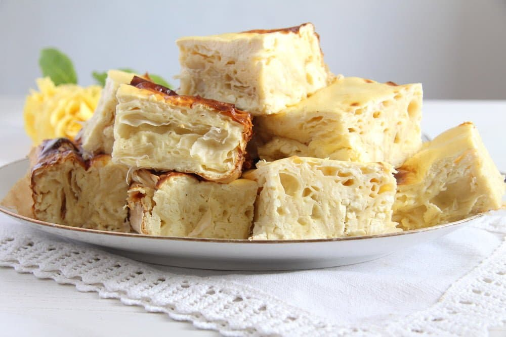 layered cheese pie slice borek
