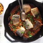 trout skillet vegetables 150x150 Aromatic Skillet Trout with Onions and Whole Peppercorns