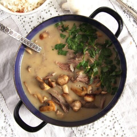 fricassee turkey leftovers 480x480 Quick Fricassee with Leftover Turkey