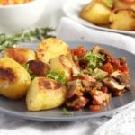 gypsy potatoes 150x150 Potatoes with Bacon, Ham and Vegetable Sauce – Gypsy Recipe