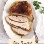 oven roasted turkey breast with vegetable sauce
