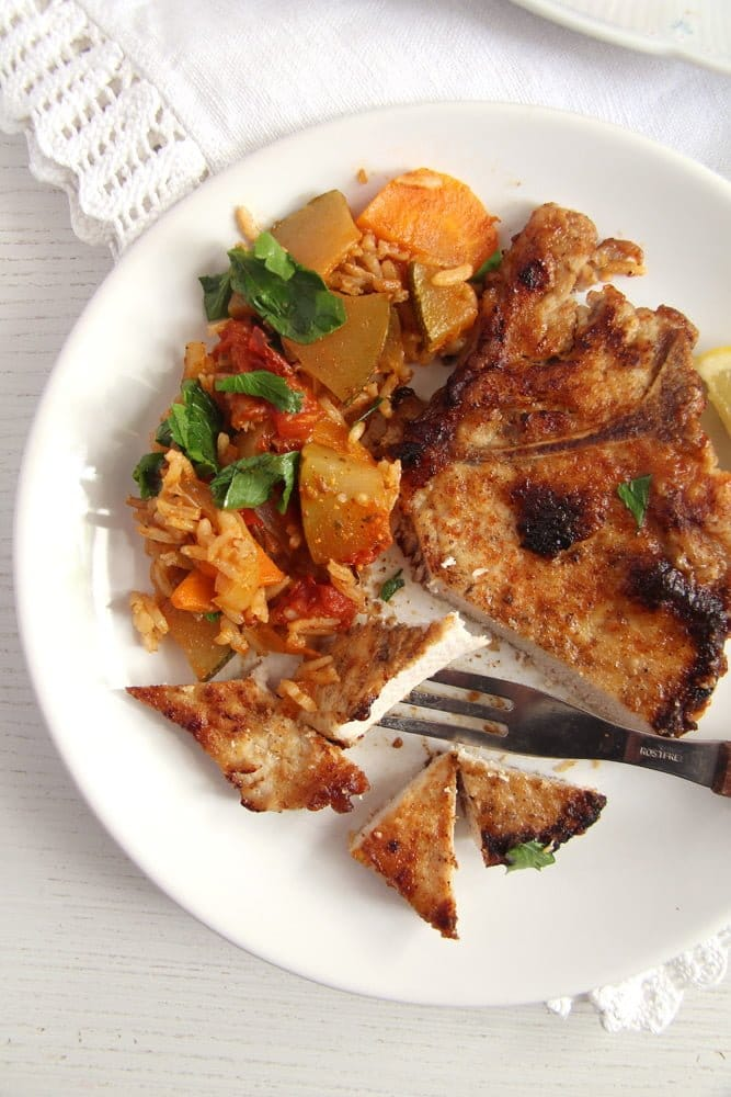 pork chops milk brine Skillet Pork Chops Brined in Milk – Gypsy Recipe