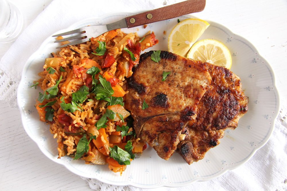 pork chops milk Skillet Pork Chops Brined in Milk – Gypsy Recipe