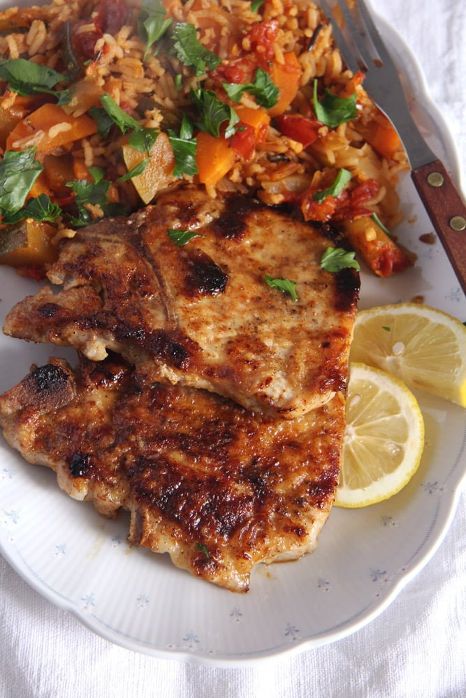 pork chops Skillet Pork Chops Brined in Milk – Gypsy Recipe