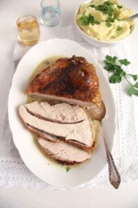 turkey breast easy 200x300 Basic Recipe for Tender Oven Roasted Turkey Breast