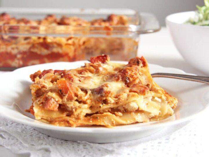 Leftover Turkey Lasagna