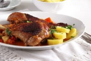 turkey legs easy 300x200 Oven Roasted Turkey Drumsticks Recipe with Vegetables