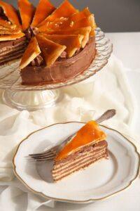 Dobos Torte Edited 3 200x300 Dobos Torte – Hungarian Cake with Chocolate Buttercream and Caramel
