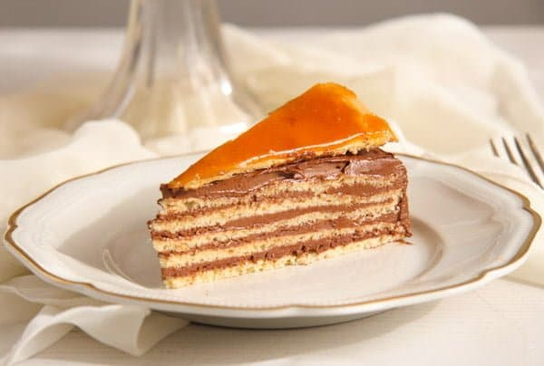 Dobos Torte Edited 4 Dobos Torte – Hungarian Cake with Chocolate Buttercream and Caramel