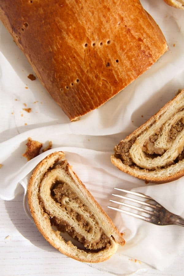 Hungarian Beigli edited 4 Traditional Hungarian Pastry Rolls with Walnut Filling