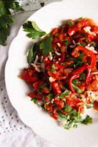 Hungarian Lecso edited 4 200x300 Hungarian Pepper and Tomato Stew – Vegan Lecso Recipe