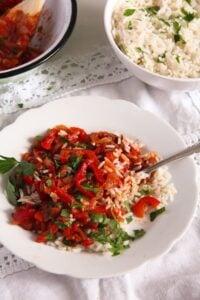 Hungarian Lecso edited 5 200x300 Hungarian Pepper and Tomato Stew – Vegan Lecso Recipe