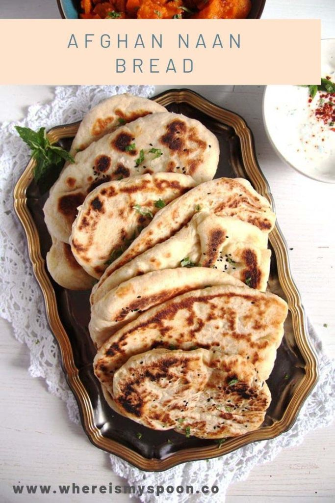 afghan naan bread on a platter