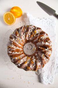 bundt cake ed 2 200x300 Orange Bundt Cake with Chocolate, Raisins and Almonds