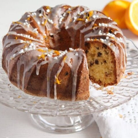 Orange Raisin Bundt Cake