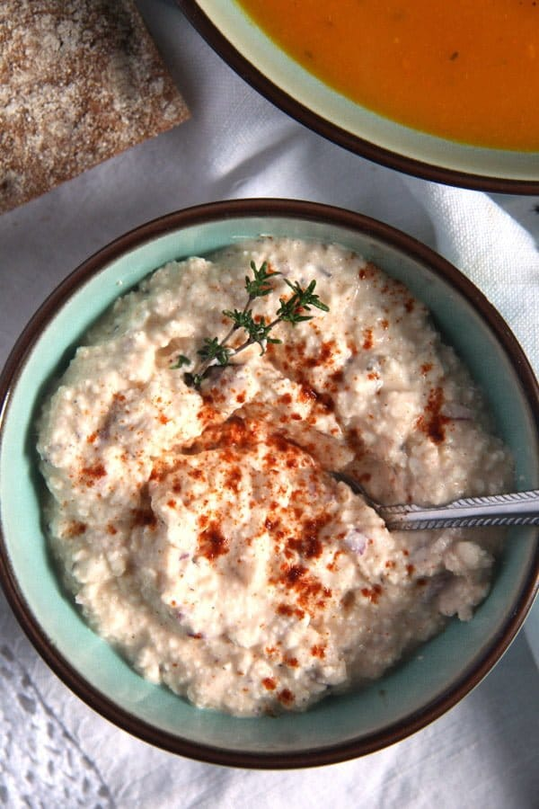 Hungarian Dip or Spread with Feta, Paprika and Caraway Seeds