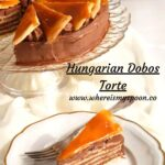 pinterest image for dobos torte with title on the picture.