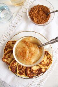 potato pancakes ed 2 200x300 Easy Potato Pancakes or Fritters – Sweet or Savory