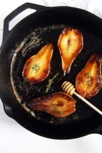 roasted pear honey 200x300 Easy Roasted Pears with Balsamic Vinegar and Honey