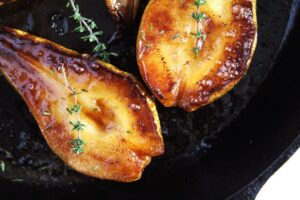roasted pears honey 300x200 Easy Roasted Pears with Balsamic Vinegar and Honey