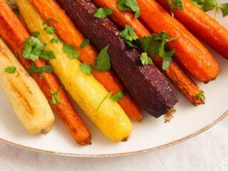 roasted whole carrots