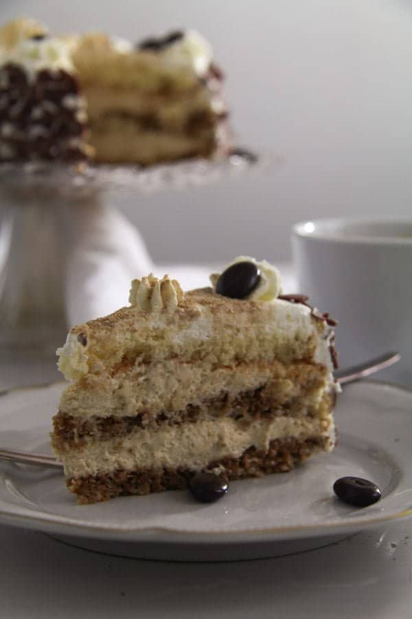 Cappuccino Whiskey Cake with Cream Cheese Filling