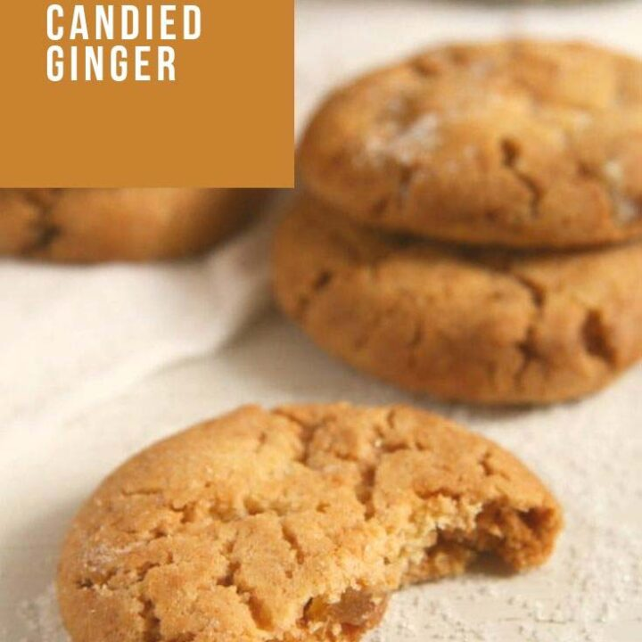 ginger snaps 720x720 Ginger Snaps Recipe – Candied Ginger Cookies