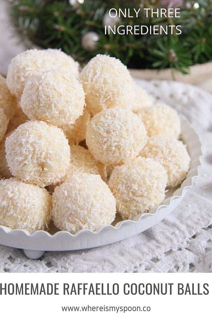 homemade raffaello Homemade Raffaello Coconut Balls