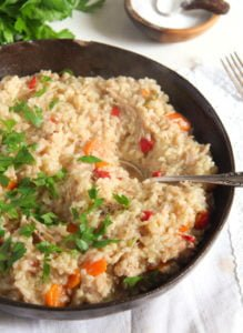 pilaf ed 1 219x300 Simple Chicken and Vegetable Pilaf – Romanian Recipe