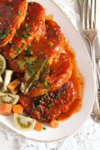 pork roast ed 2 200x300 Easy Roasted Pork in Garlic, Tomato and Paprika Sauce
