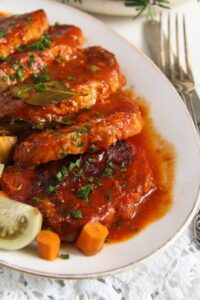 pork roast ed 3 200x300 Easy Roasted Pork in Garlic, Tomato and Paprika Sauce