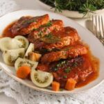 Easy Roasted Pork in Garlic, Tomato and Paprika Sauce