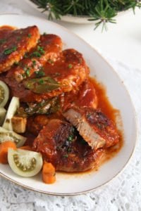 pork roast ed 5 200x300 Easy Roasted Pork in Garlic, Tomato and Paprika Sauce