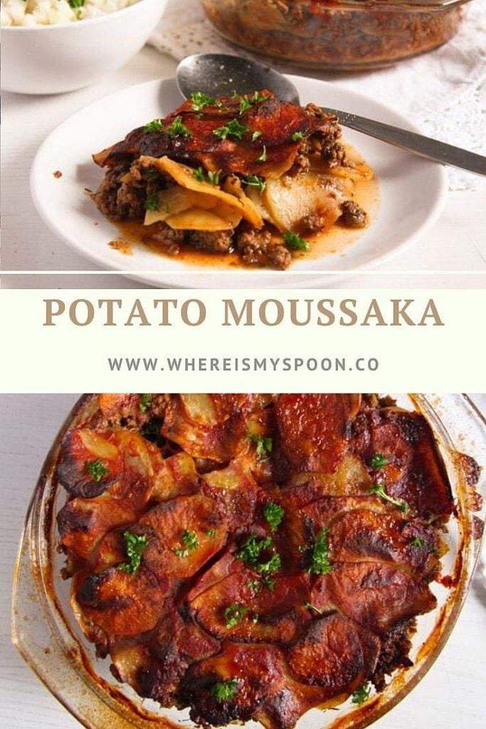 dish with potato moussaka